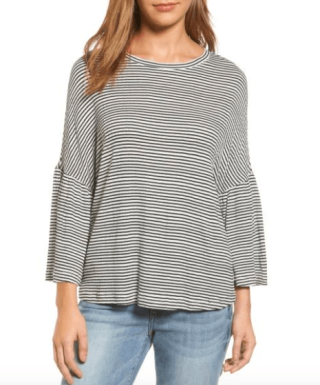 Calson Stripe Bell Sleeve Tee 2590 vs 39