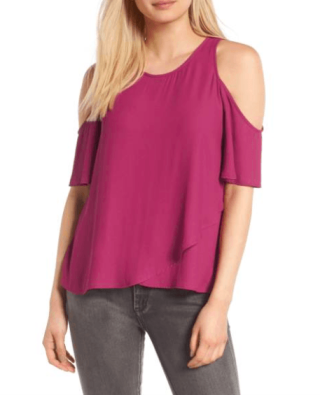 Lush Cold Shoulder Top 2990 vs 45