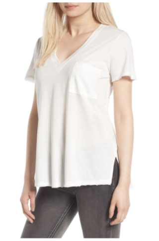 Lush Raw Edge Side Slit Tee 1590 vs 24